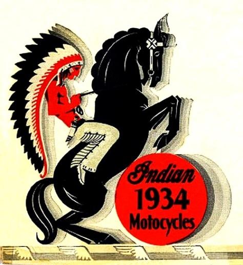 The Müscleheaded Blog: Vintage Motorcycle Logo – Indian 1934