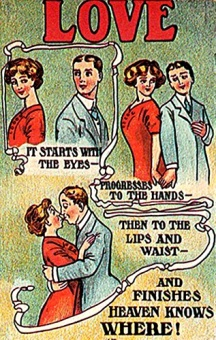 Image result for postcard vintage love adage