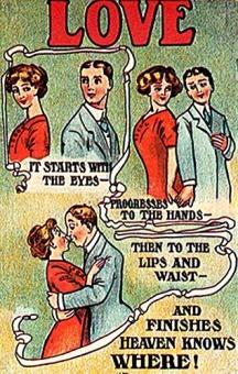 Image result for postcard vintage love adage
