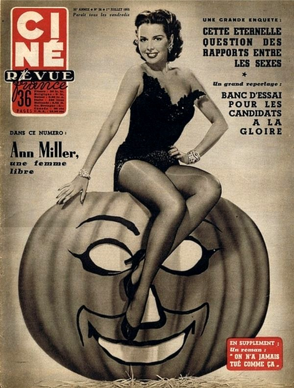 Posted In Art Entertainment Holidays And Events Pin Ups Vintage Tagged Ann Miller Halloween Hollywood Trick Or Treat
