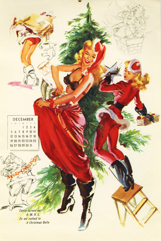 Vintage Christmas Pin Up: Bill Randall | The Müscleheaded Blog