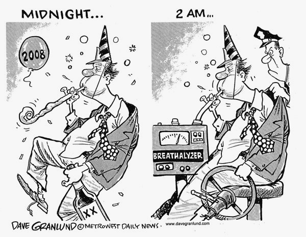Vintage Humor: Editorial Cartoon- New Years Eve | Stuff I Like to ...