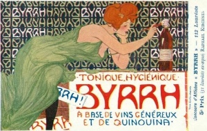 Ad for Byrrh Quinquina by Raphael Kirchner, 1906