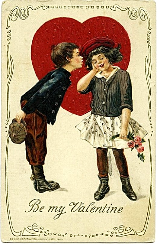 Valentines Day card The M scleheaded Blog – Old Valentines Day Cards