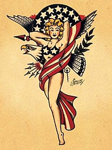 8596d285379ef Vintage Patriotic Pin Up: Sailor Jerry | The Müscleheaded Blog