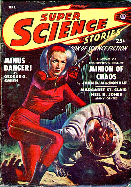 1950s space gal with laser blaster
