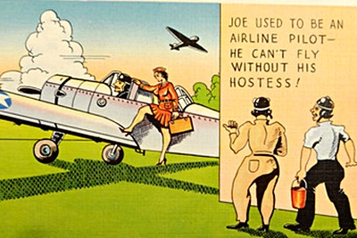 Image result for postcard airplane humor 1900's