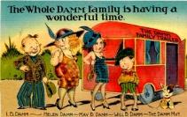 Image result for vintage camper postcard