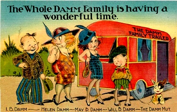 Image result for vintage camper postcard