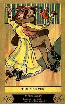 Image result for vintage roller skating humor