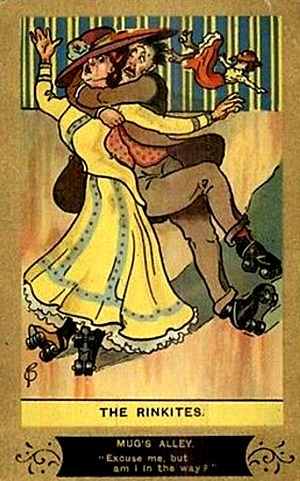 Image result for vintage roller skating humor
